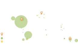 Map over IWC's investments in the world –IWC global footprint